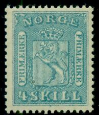 NORWAY #8 (8) 4sk Lion, og, NH, scarce and VF, Facit $1,450.00