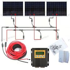 540W Solar System 3*180W Solar Panel Kit w/ MPPT Controller Home Boat Off Grid