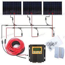 540W Solar System 3*180W Solar Panel Kit w/ MPPT Controller Home Boat Off Grid