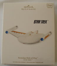 Hallmark 2011 Star Trek Romulan Bird of Prey Space Ship Magic Christmas Ornament