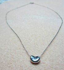 TIFFANY & CO. ELSA PERETTI Sterling Silver Sliding Bean Necklace
