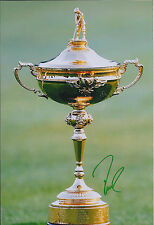 Davis LOVE SIGNED AUTOGRAPH 12x8 Ryder Cup Photo AFTAL COA USA Captain