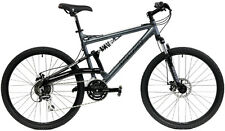 "GRAVITY FSX 1.0  GRAY 17"" FULL SUSPENSION MOUNTAIN BIKE w/ SHIMANO"