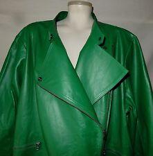Size 26 3X 4X Genuine Leather Green Jacket Jessica London Plus Size