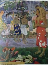 We Greet Thee, Mary (MINI PRINT) By Paul Gauguin