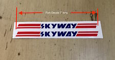 SKYWAY FORK Decals, pair