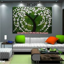 """YH777 28*20""""Hand painted Oil Canvas Wall Art home Decor Abstract flower NO Frame"""