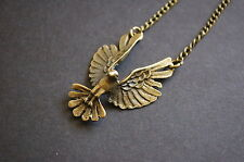 Antique bronze phoenix bird necklace vintage