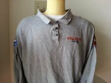 "Harley Davidson Buell ""Staff"" gray long sleeve polo - womens 1 W"