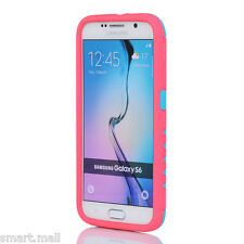 For SAMSUNG GALAXY S6 Heavy Duty Hybrid Rugged Rubber Hard Phone Case Cover