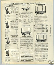 1937 PAPER AD Tee Dee Chattanooga T&D Warehouse Truck Railroad Luggage Cart