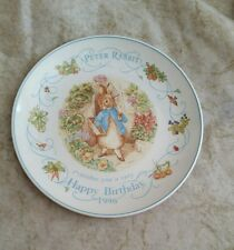 Wedgwood Plate Peter Rabbit Wishes You A Very Happy Birthday 1996 Beatrix Potter