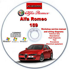 Alfa Romeo 159 eLearn – Multilingual Factory Repair Manual CD