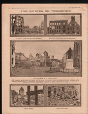 WWI Ruines Grande PLace Musée Caserne des Pompiers de Termonde 1914 ILLUSTRATION