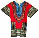 KAFTAN FESTIVAL AFRICAN DASHIKI HIPPIE SHIRT RED PONCHO FUN PARTY GYPSY SIZE XL