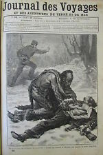 JOURNAL DES VOYAGES N° 96 de 1879  AMERIQUE DU NORD INDIEN CANNIBALE