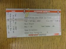 17/04/2007 Ticket: Rotherham & Association Cup Final, Unkown v Unknown [At Rothe