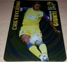 CARD CALCIATORI PANINI 2005-06 CHIEVO GIUNTI CALCIO FOOTBALL SOCCER ALBUM