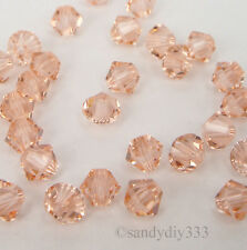 144 x SWAROVSKI 5328 LIGHT PEACH 4mm XILION BICONE CRYSTAL BEAD