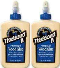 2x Titebond II 8oz 237ml Weatherproof Premium Woodworking Wood Glue
