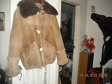 western sheep shearling overland sheepskin co Taos NM ranch cabin coat jacket 42