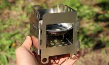 Portable Stainless Steel Folding Wood Pocket Alcohol Stove Cooking Camping