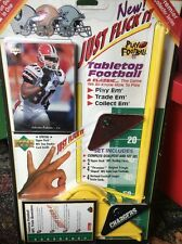 New Vintage NFL Tabletop Football Game 49ers Vs Chargers Trivia & Trading Cards