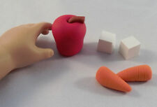 "Horse Snacks / Apple, Cubes  - Doll Food made for 18"" American Girl Dolls / bjd"