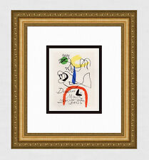 "Exciting JOAN MIRO Antique Exhibition Poster ""Derrirer Le Miroir"" FRAMED COA WOW"