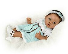 Alicia's Touch - She Really Holds Your Hand! African American Baby Girl Doll