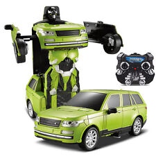 Chargable Electric Cool Transformer Robot Wireless Remote Control Kids Car Toy