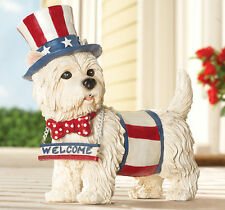 Collections Etc Barking Motion Sensor Patriotic Welcome Dog