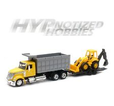 NEWRAY 1:43 DIE-CAST INTERNATIONAL LONESTAR DUMP TRUCK WITH WHEEL LOADER 16633