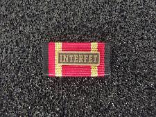 *(A16-BW16) BW Einsatzmedaille  Ordensspange Bandspange INTERFET bronze