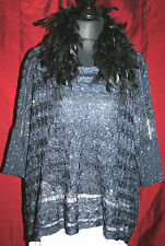 Short Black Feather Collar Scarf Beaded Boa Dressy Evening Flapper Deco Acc.