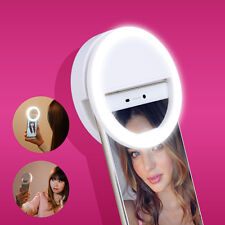 White Selfie LED Ring Light for Smartphone iPhone 6 plus/6s/6/5s/5/4s/4/Samsung