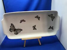 Large Rectangular Porcelain Serving Tray Platter Butterflies Naaman Israel Bar