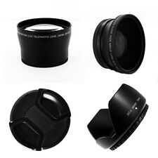 Wide Angle,Telephoto,Hood,Cap kit FOR Canon EOS 60D 40D 5D XT XTi EF-S 72mm Lens