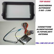 SEAT ALHAMBRA DAL 2011 - MASK. AUTORADIO 2iso 2din + CONNETTORE + AD. ANTENNA
