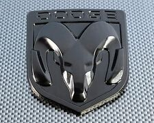 DODGE BLACK  3D EMBLEM BADGE FOR BODY TRUNK TAILGATE FENDERS