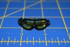 "1:6 scale Yellow Tinted Black Goggles Eyewear for 12"" Action Figures C-193"