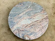 runde Tischplatte f.Gartentisch Couchtisch Esstisch Naturstein wetterfest Granit