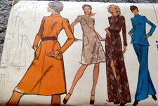 LOVELY VTG 1970s DRESS & PANTS VOGUE Sewing Pattern 14/36