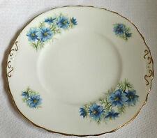 """Vintage Colclough nigelle fleuri bleu plaque """"sandwich"""" 9 1/4"""" x 8 3/4"""" 23cm x 22cm"""