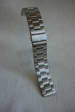 SOLID SUPER HEAVY DUTY STAINLESS STEEL WATCH BAND - COLOUR SILVER 20MM