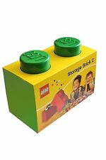 Lego Storage Brick - 2 Knob - Green - Great storage for all the family