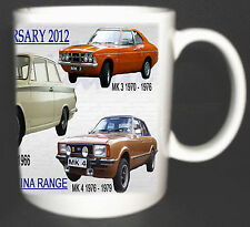 FORD CORTINA CAR 50TH ANNIVERSARY MUG 2012 MK1,2,3,4,5