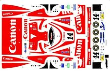 #14 Canon Porsche 956 1/64th HO Scale Slot Car Waterslide Decals