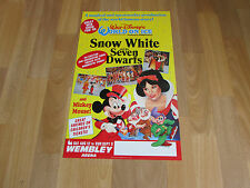 Walt Disney SNOW White & Seven Dwarfs World on Ice WEMBLEY Arena Theatre Poster