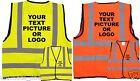 PERSONALISED KIDS HI VIS HI VIZ SAFETY VEST WAISTCOAT Childrens Child - Jacket
